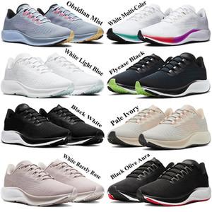 Yeni iyi Zoomx erkekler Pegasus kadın 37 Koşu Ayakkabı gerçek 2020 sinek koşucu Eğitmenler Beyaz Çok Renkli Obsidian Mist Soluk Fildişi Sneakers örgü olmak