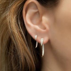 Sdzstone New Vintage Gold-Silber-Farben Crescent Moon Ohrringe für Frauen Tribal Hip-Hop-Horn-Bolzen-Ohrringe Schmuck
