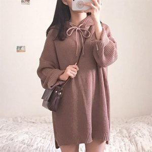 Casual Womens Sweaters Japanese Kawaii Ulzzang Retro Chic Loose Hooded Sweater Female Korean Harajuku Clothing For Women