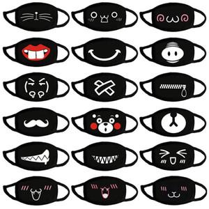 Güzel Karikatür Pamuk Moda Baskı İfade Maskesi Sevimli Ayı Yıkanabilir materyali olarak yeniden Ağız Kapak DHF783 Maske Sıcak Cotton tutun Maske