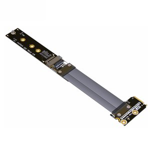 M.2 NVMe SSD M-Key Extension Cable Extender tournant à 90 degrés Prise en charge PCI-e 3.0 x4 pleine vitesse 5cm-60cm