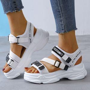 Женщины Сандалии Повседневная обувь Толстые Bottom дышащий Ladies 2020 Слайды моды платформы обувь Женская Летняя Сандалии