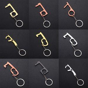 bouton d'ouverture de porte multifonctionnelle anti-artefact isolement protection métallique élévateur d'ouverture de porte anti-contact cadeaux de partie d'outil w-00162