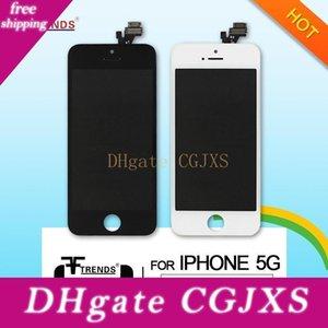 Pour Iphone 5 Lcd Écran tactile Digitizer pleine Assemblée Oreillette Anti -Dust Mesh gratuit installé