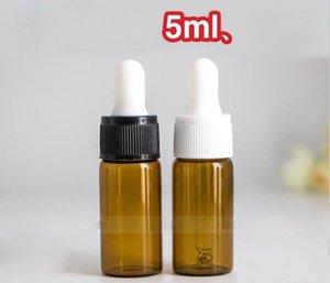 Hızlı 1000pcs nakliye / lot Mini Küçük Amber Parfüm Şişesi Flakon ile Cam Göz Dropper 5ml Cam Şişeler boşaltın