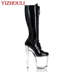 sexy supermodels catwalk shoes Super high heels shoes 20 cm COS props nightclub Paris fashion boots