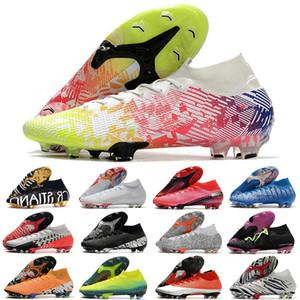 2020 Mercurial Superfly VII 7 Elite 360 zapatos de fútbol FG CR7 SE destello carmesí Neymar Hombres Mujeres Niños niños Botas de fútbol grapas de alta del tobillo