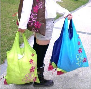 Дизайнер-Портативный Творческий Клубничный Складная сумок многоразового использования Защита окружающей среды Чехол Экологичный сумок Tote сумки