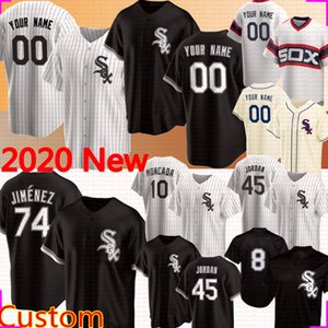 2020 Nueva Jersey 74 Eloy Jiménez personalizado 8 Bo Jackson 45 Michael 7 Tim Anderson 10 Yoan Moncada 72 Carlton Fisk 35 Frank Thomas béisbol