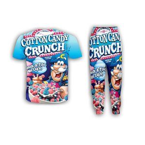 New Fashion Women Mens Food Crunch Berries Funny 3d Print T-Shirt + Jogger Pants Casusal Tracksuit Sets ZS16
