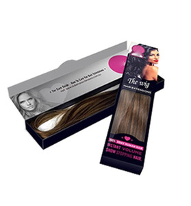 DIY Private Label intrecciatura parrucca vergine dei capelli Scatole tessuto estensione Packaging logo personalizzato scatola di carta fascio di capelli Packaging Confezione Regalo