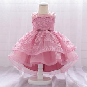 Лето Infantil платье Elegant платье принцессы Детские платья для партии vestidos девушки костюма детей Свадебное платье 1Year День рождения