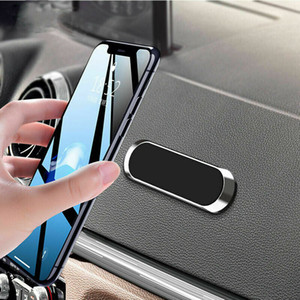 Universal Strip Shape Ultra Slim Magnetic Car Phone Holder Stand for iPhone Samsung xiaomi GPS Metal Magn