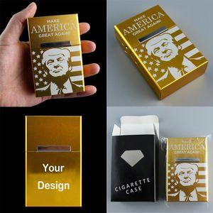 Custom Design Trump presidenziale di voto di elezione Compete Cigarette Laser riutilizzabile Fashional magnete lega di alluminio della cassa della scatola di trasporto del DHL