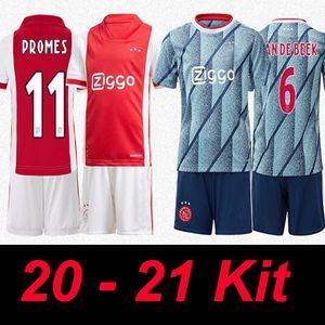 20 21 Ajax Football Maillots Hommes Enfants Football Jersey 2020 Kits 2021 TADIC HUNTELAAR DOLBERG SCHONE Football Uniformes de football shorts Chemises