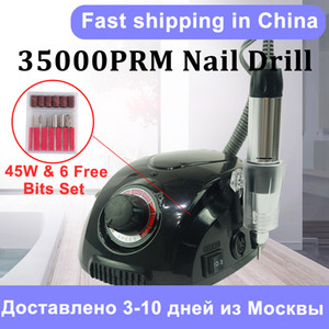 Electric Nail Drill Machine 35000RPM Manicure Machine Electric Nail File Art Tools Set for Drill bits Gel Remover