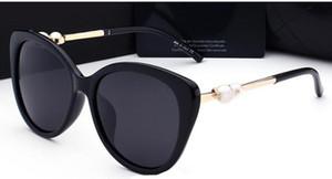 패션 진주 명품 선글라스 고품질 브랜드 편광 렌즈 태양 안경에 대한 여성 남성 안경 금속 프레임 5 색 2039 안경