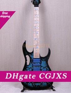Jem77 Bfp blu Fiore modello Steve Vai 7v Albero chitarra elettrica Of Life Inlay, Floyd Rose Tremolo, dado di bloccaggio, hardware nero, Hsh Pickups
