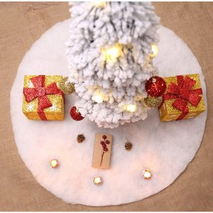 Árvore de Natal FANLUS Faux Fur saia Snowy White Saia de árvore Decorações do Natal por mais novo Decorações de Natal 3J0O #