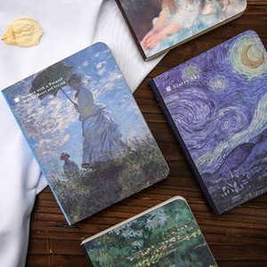 Vintage Diary Notebook Van Gogh Monet's Famous Painting Mona Lisa Creative Planner Weekly Agendas Notebook School