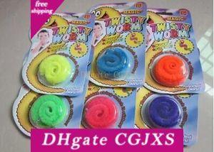 Divertente giocattolo magico SME libera il trasporto Vite senza fine Twisty Worm Wurli Worm Magia Wiggles 6 colori E950