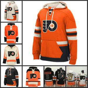 personalizzato con cappuccio 93 Jakub Voracek 9 Ivan Provorov 17 Wayne Simmonds 28 Claude Giroux Sean Couturier Travis Konecny Philadelphia Flyers Jersey