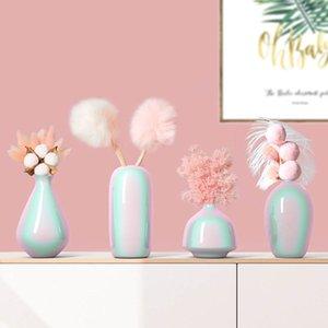 Новый Ins Стиль Имитация Pearl поверхности Керамическая ваза Столешница Украшения Главная Eternal Цветочная композиция Свадьба Декор Вазы
