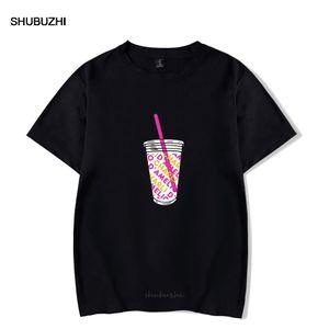 Charli Damelio Funny Girl maglietta Rholycrown Ice Coffee Splatter T-shirt oversize O-manica corta per le donne Unisex Stampa