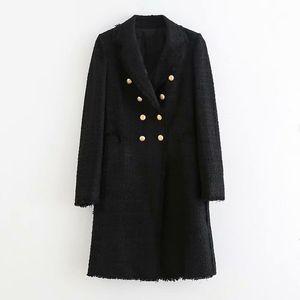 여성 더블 브레스트 우아한 긴 소매 패션 사무실 Chaqueta Mujer 코트 케이프 여성 코트 여성 가을 재킷 영국 망토