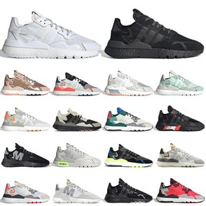 adidas nite jogger boost nite jogger zapatillas para correr Triple Black white Reflective Xeno Shock Red para mujer para hombre zapatillas deportivas al aire libre 36-4
