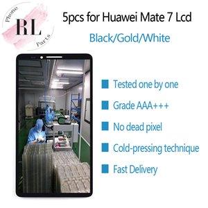 5шт для оригинала LCD HUAWEI Mate 7 ЖК-дисплей с сенсорным экраном дигитайзер запасных частей MT7-TL00 для MATE7 Mate 7