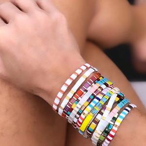 Ethnische Art böhmische Freundschaft Armband für Frauen-Mädchen-Regenbogen-Armband-handgemachte Pulseira Mujer Moda Femal Armband Schmuck