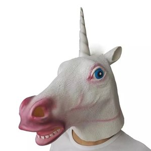 Licorne Cheval Latex Masque Halloween Party Creepy Costume Party Deluxe Nouveauté cosplay Prop caoutchouc Creepy cosplay latex Masque tête Masque Cosplay