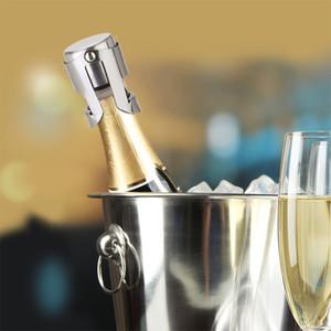 3 couleurs Bouteille en acier inoxydable Bouchon silicone vin Champagne Stoppers Creative Style de vin Bouche DWD1138