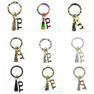 Key Chain Браслет Кожа PU Tassel Wristlet Keychains Открытый Бесконтактный Лифт Кнопка Защитный браслет ключевой инструмент цепи DHB970