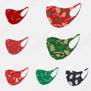 Weihnachten Mode Maske für Erwachsene und Kind staubdicht atmungsaktiv Ice Silk Cotton Maske Sonnenschutz Staubdichtes Tuch-Gesichtsmaske Freies Verschiffen