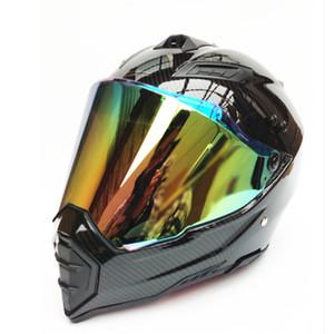 Yeni Motosiklet Kaskı Erkekler Tam Yüz Kask Moto Binme ABS Malzeme Macera Motokros Motosiklet DOT Sertifikası #