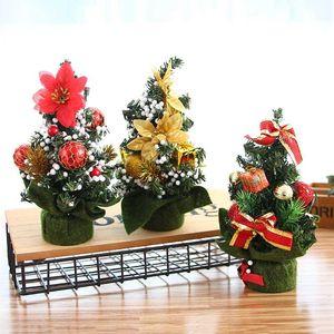 2020 Exquisitely Decorated Mini Christmas Tree XMAS Decor Home Desktop Decorations Festival Atmosphere Scene Arrangement