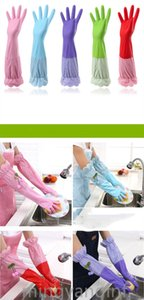 Long Sleeve Wash Dishes Household Cleaning Gloves Kitchen Waterproof DishWashing Gloves Rubber Bands Gloves Guanti per la casa