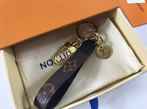 Fashion luxury women men Keychain Black Grid with Bag Pendant and Trend Keychain Spring Ring Pendant leather keyrings With box