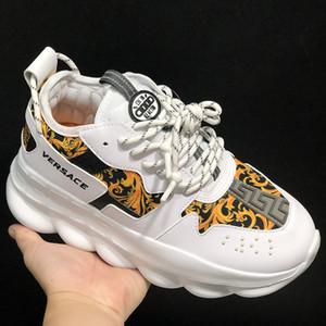Versace Chain Reaction donne mens Scarpe ragazza del neonato statico del bambino delle scarpe da tennis di alta qualità dei bambini di sport atletici scarpe comode Size 36-45 corsa