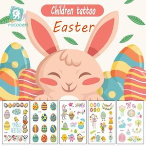 Дети Easter татуировка Дети моющегося Мультфильм татуировка наклейка партия Декор Дети Baby Shower Eenhoorn Партия питание татуировка 12 стилей B4rw #