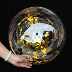 100pcs 10/18/24/36 Bubble transparent Ballons PVC clair hélium Bobo Lumière Globos de fête d'anniversaire de mariage Décor Cadeaux