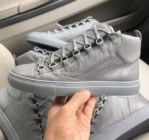 Original Hightop mit luxuriöser Arena Sneaker Flach Superqualität echten Leder-Frauen, Männer im Freien Kanye West Fashion Trainer