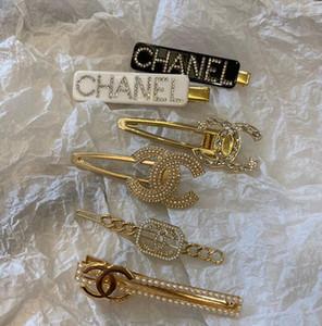 Neue Designer Silber Gold Letter Word Rhinestone-Kristall Hairpin Haarklammer Haarspangen Haarspange Griff Pin Haarspange Haarspange Zubehör