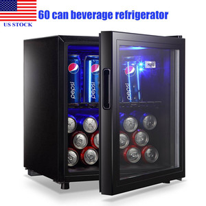 Portable Freezers Compact Refrigerator Wine Fridgee 100 Can Capacity Beverage Refrigerator Household Appliances C0105 US STOCK