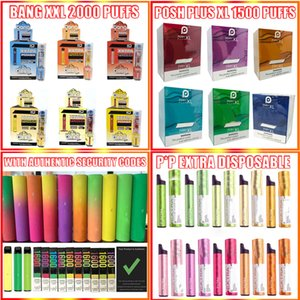 Bang XXL 2000 Puff monouso Vape Pen Vuoto dispositivo 800 1200 1600 Sbuffi Bang XXtra Kit VS Puff Xtra Inoltre Air Bar