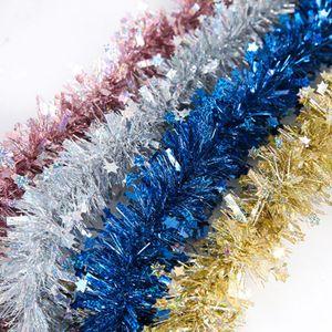 10CM 2M Colorful Bar Tops Ribbon Garland Christmas Tree Ornaments Christmas Party Decoration Supplies 1pcs