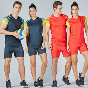 Nouvelle Marque Hommes Femmes Sport Volley-ball Uniformes blanc Costume formation Sporting Courir Jeux de volley-ball Sets Kits sport