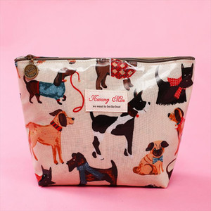 2019 New Creative Makeup Bags With Cute Dog And Cat Pattern Cosmetics Pouch For Travel Ladies Pocket Women Wash Bag Waterproof